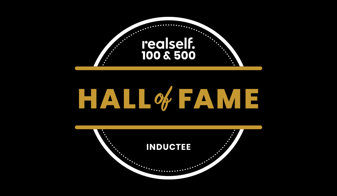 Logo for RealSelf 100 & 500 Hall of Fame Inductee