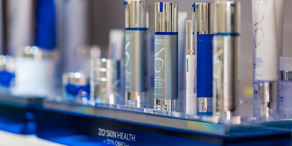Close Up of Zo Skin Health Products