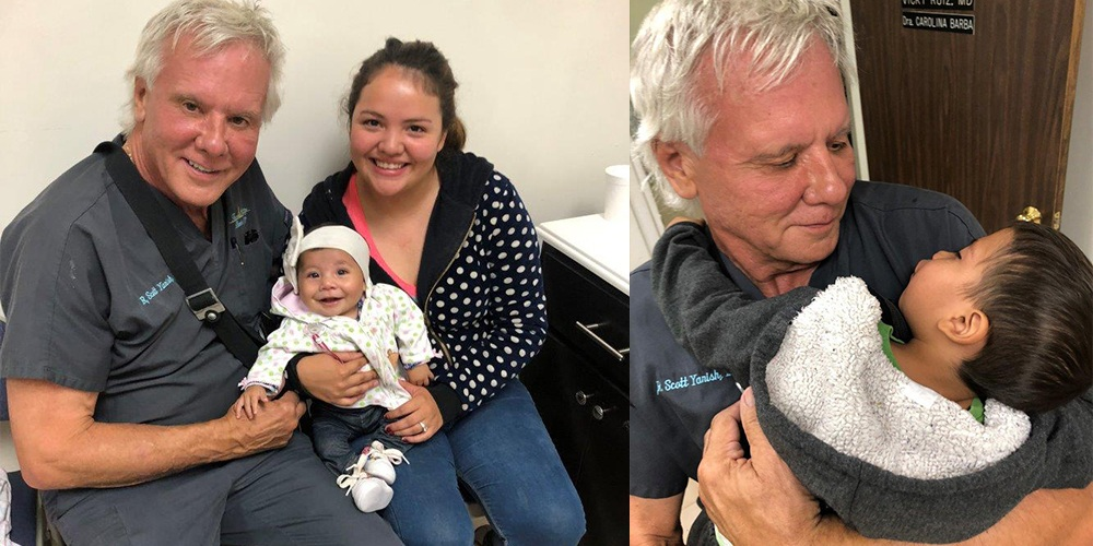 Split Photos of Dr. Yarish with Children who Received Successful Reconstructive Surgery